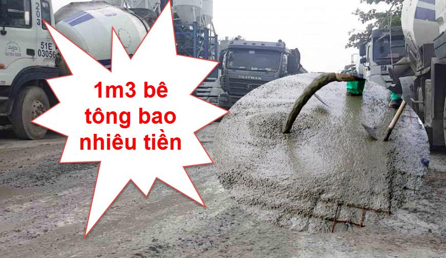 1m3 bê tông bao nhiêu tiền