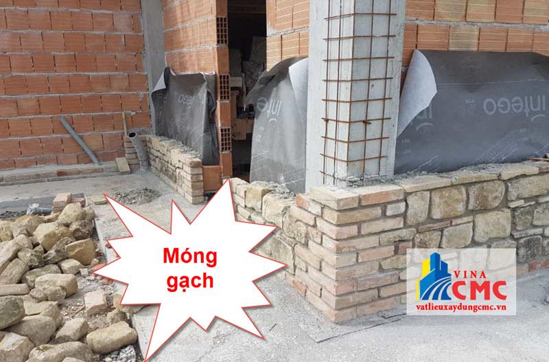 Móng nhà sử dụng gạch
