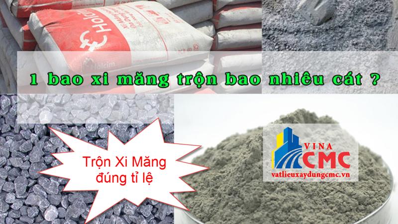 Trộn xi măng với cát đúng tỉ lệ sẽ tiết kiệm nhiên liệu. đảm bảo độ bền công trình