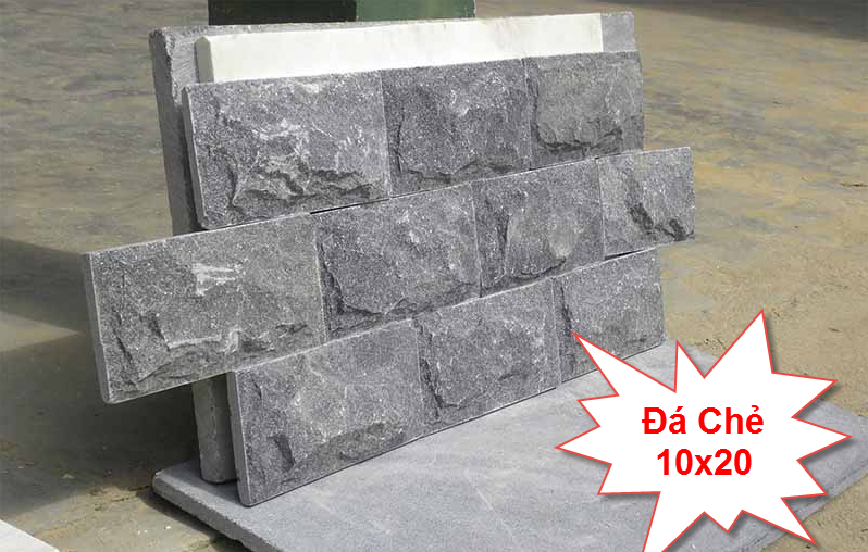 Đá chẻ 10x20 là loại đá tự nhiên được dùng để ốp tường, lát nền rất được ưa chuộng hiện nay