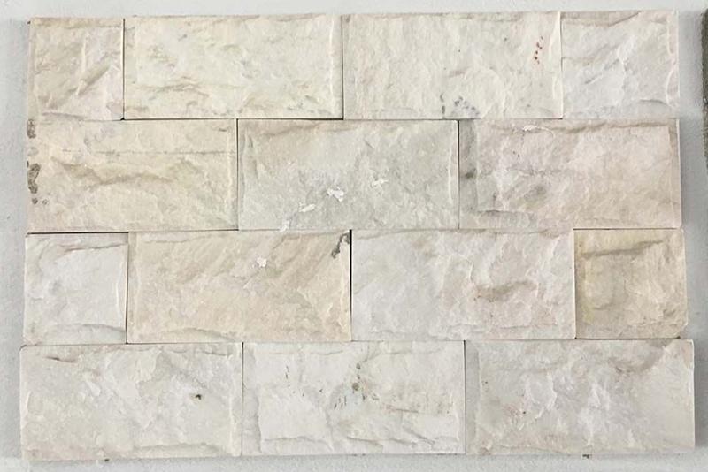 Đá chẻ màu trắng kích thước 10x20