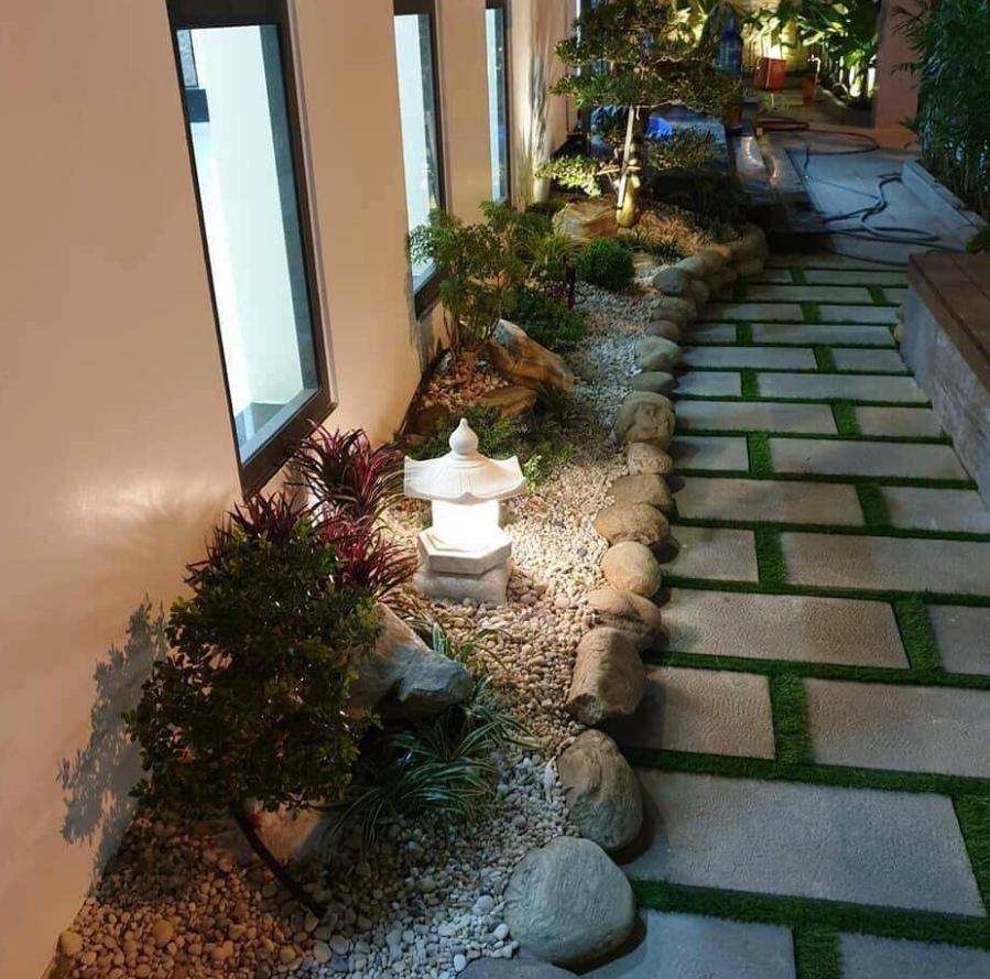 Dùng lót sân vườn