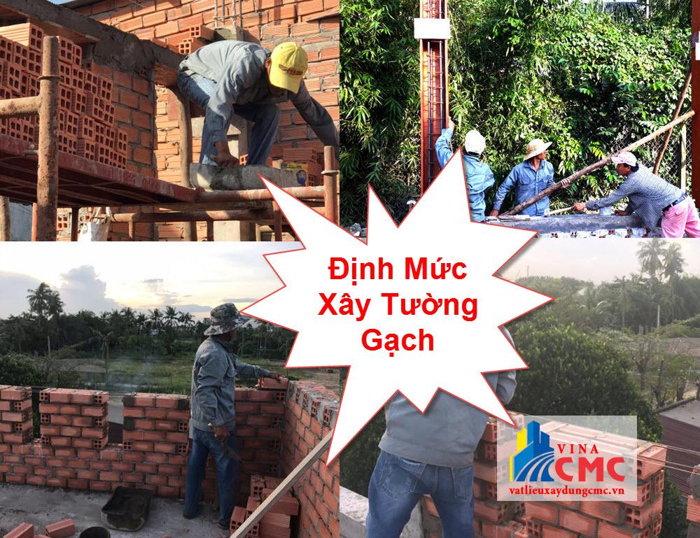 Định mức xây tường gạch mới nhất hiện nay