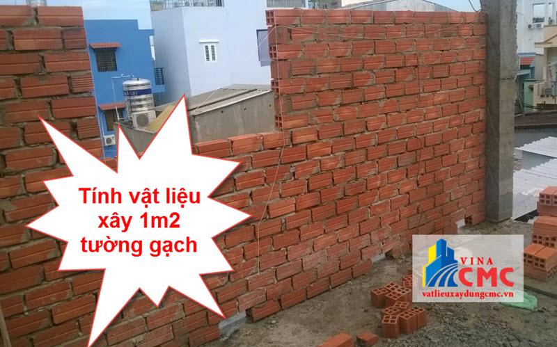 Tính vật liệu xây 1m2 tường gạch