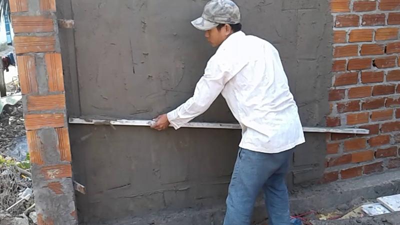 Trát tường làm tăng tính thẩm mỹ cho ngôi nhà