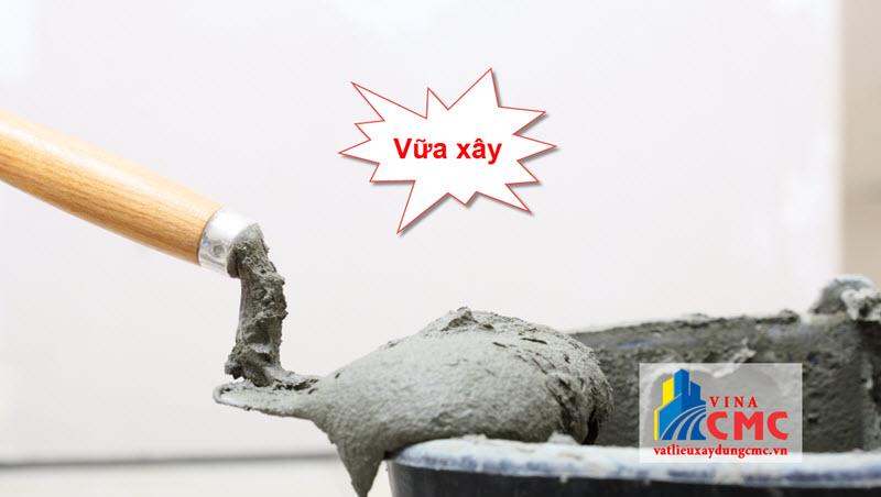 Vữa xây là thành phần không thể thiếu khi xây tường gạch