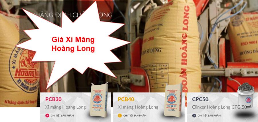 Giá xi măng Hoàng Long