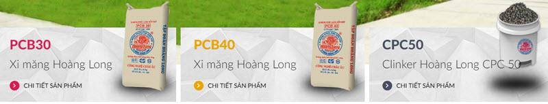 Xi măng Hoàng Long có 3 loại