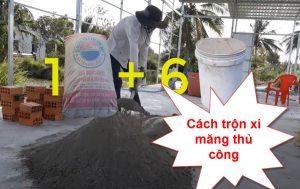 Cách trộn xi măng thủ công chuẩn nhất