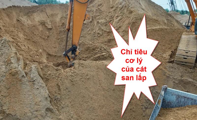Chỉ tiêu cơ lý của cát san lấp