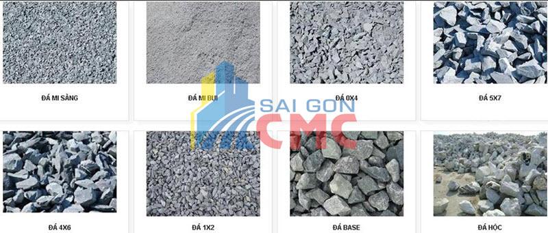Chọn lựa đá xây dựng theo thành phần hạt