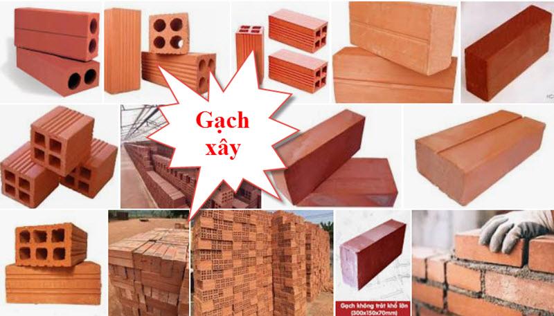 Các loại gạch xây nhà