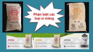 Phân Biệt Các Loại Xi Măng PC30, PC40, PC50 Và PCB30, PCB40, PCB50