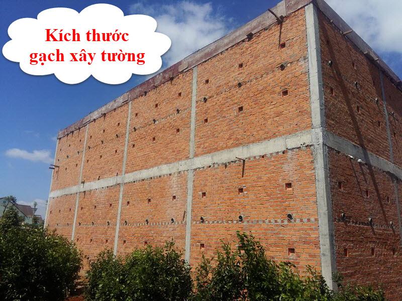 Kích thước gạch xây tường tiêu chuẩn 2021