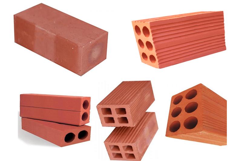 Gạch chỉ xây dựng có 4 loại cơ bản: gạch chỉ đặc, gạch chỉ lỗ, gạch chỉ nung truyền thống và gạch chỉ nung Tuynel