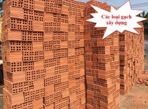 Các loại gạch trong xây dựng ngày nay