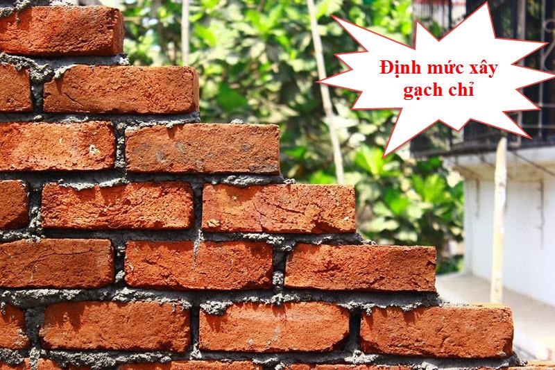 Định mức xây gạch chỉ bao gồm vữa trong xây dựng