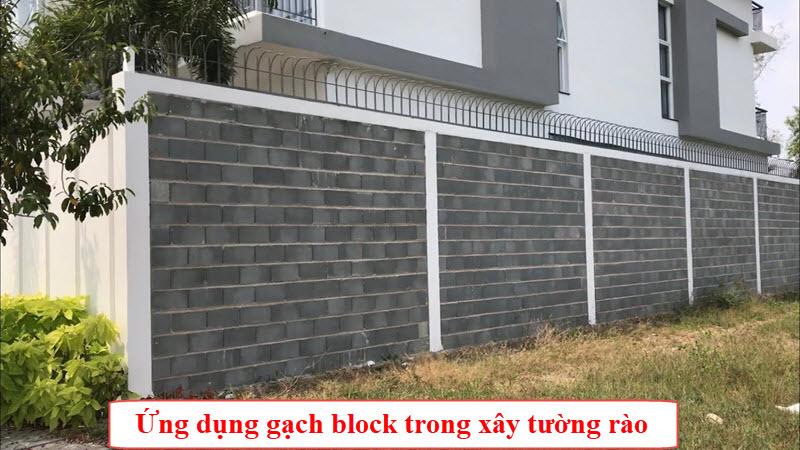 Tường rào cũng la fuwnsg dụng phổ biến không kém khi sử dụng gạch block trong thi công xây dựng