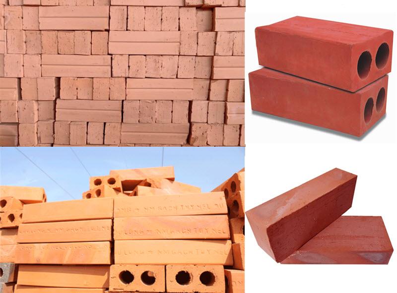Gạch đinh được làm từ đất sét tiêu chuẩn, sản xuất bằng phương pháp nung nóng ở nhiệt độ cao