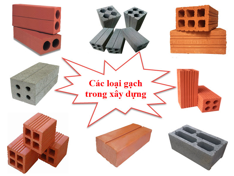 Các loại gạch xây nào phổ biến hiện nay