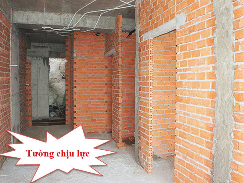 Tường chịu lực là tường vừa chịu tải trọng của bản thân nó vừa chịu tải trọng của các bộ phận khác trong ngôi nhà
