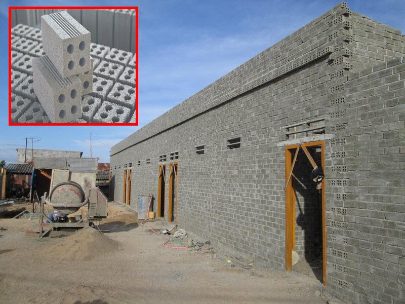 Ứng dụng gạchtaplo dùng để xây dựng phần khung nhà cho các công trình dân dụng